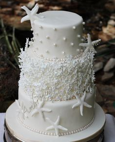 Ocean theme wedding cake