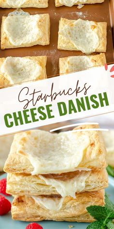 This Starbucks copycat cheese danish will quickly become your new favorite breakfast! It is super easy to make at home and is a fraction of the cost. Let me show you how to make this Starbucks cheese danish today! Delicious Breakfast Recipes, Best Dessert Recipes, Easy Dinner Recipes, Easy Desserts, Dessert Ideas, Summer Recipes, Starbucks Cheese Danish, Good Food, Yummy Food