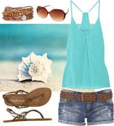 """""""Beachy"""" by qtpiekelso on Polyvore"""