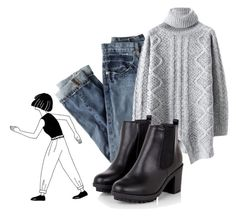 """""""TURTLENECK // GOALS"""" by bubblywisdom ❤ liked on Polyvore featuring J.Crew"""