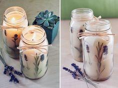 Dekor DIY Tip: Levanduľové sviečky