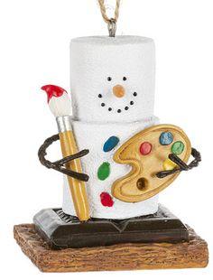 S'mores Original Artist Ornament. Item SM170839.