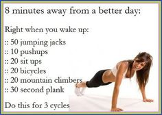 Exercise your way to a better day