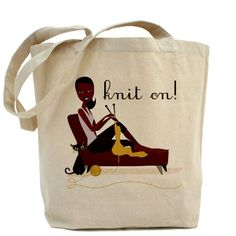 african american knitting | African American Breast Cancer Bags & Totes | Personalized African ...