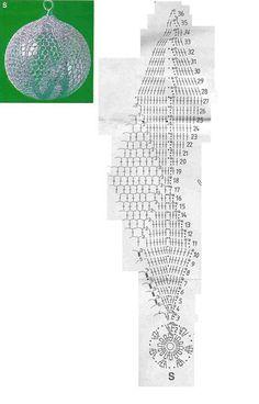 B Christmas Tree Baubles, Christmas Bells, Christmas Cross, Crochet Christmas Ornaments, Christmas Crochet Patterns, Crochet Ball, Thread Crochet, Wedding Wall Decorations, Crochet Angels