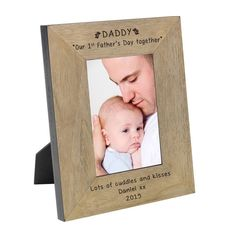Daddy our 1st Father's Day together Wood Frame 6 x 4 | The Personalised Gift Shop