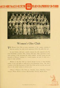 "Athena Yearbook, 1931. ""Women's Glee Club."" :: Ohio University Archives"
