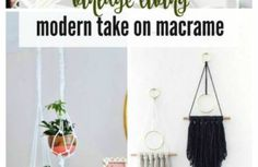 Raise your hand if you're still into the macramé trend!