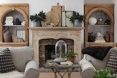design indulgence: love the mantle and bookshelves