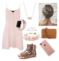"""""""Untitled #5"""" by bella3w on Polyvore featuring Topshop, Forever 21, Kendra Scott, Apple, Michael Kors and Belkin"""