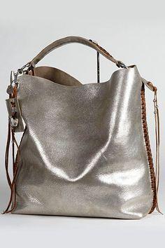 Ralph Lauren - Women's Accessories 2011 Spring-Summer - LOOK 3 Tote Handbags, Purses And Handbags, Leather Handbags, Leather Bag, Silver Handbags, Hobo Purses, Sac Ralph Lauren, Beautiful Bags, My Bags
