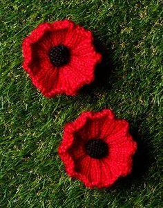 Knitting + Crochet Projects - Find All Your Needs At Spotlight Crochet Poppy Pattern, Knitted Flower Pattern, Knitted Poppies, Baby Cardigan Knitting Pattern, Knitted Flowers, Knitting Patterns, Knitting Ideas, Knit Rug, Knit Crochet