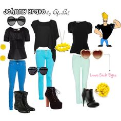 A fashion look from May 2012 featuring oversized shirts, ruching tops and shirt top. Themed Outfits, Inspired Outfits, Johnny Bravo, Complete Outfits, Cartoon Styles, Hot Topic, My Wardrobe, My Outfit, Cartoon Fashion