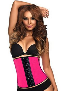 Rose Steel Bone Latex Under Bust Corset