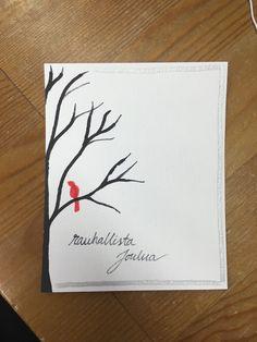 Joulu kortti diy yksinkertainen  Christmas card simple 2017