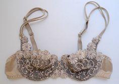 Sparkly Burlesque Set Bra Panties Swarovski by DelilahBurlesque