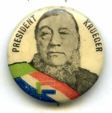 Rare Boer War pin badge President Paul Kruger