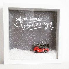 DRIVING HOME FOR CHRISTMAS  Na,...Ohrwurm??? Weihnachten kommt schneller als man denkt. Hier ein schönes Deko-DIY.  #silhouettecameo #plotter #plotterlove #handmadebyme #drivinghomeforchristmas #chrisrea #xmas #xmasdiy #snow #glitter #redtruck #tree #xmastree #stars #ribba #ikea #xmasdecor #papercraft #weihnachtsideenkonfetti