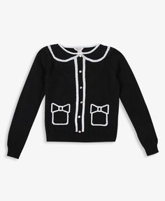 Girls Cardigan Pattern Sweater