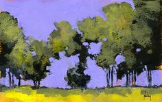 Paul Bailey ART — Morning poplars 9 x 6 inches 2013 Abstract Landscape Painting, Landscape Art, Landscape Paintings, Contemporary Landscape, Tree Art, Oeuvre D'art, Painting Inspiration, 6 Inches, Valparaiso Indiana