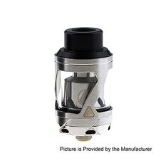 Limitless Hextron Style 24mm RTA Rebuildable Tank Atomizer - Silver