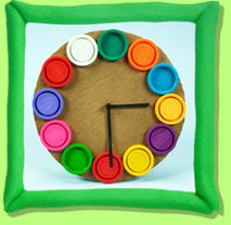 Super cute things to make from Play Doh containers.
