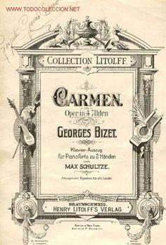 ÓPERA, CARMEN DE BIZET, EN 4 ACTOS - Foto 1 Cabaret, Piano Forte, Radios, Ballet Music, Pattern Texture, Music Library, Music Covers, Chor, Photoshop