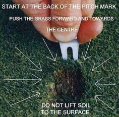 Golf School (@GolfSchoolGB) on Twitter Repairing a Divot.