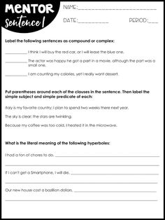 Using Mentor Sentenc