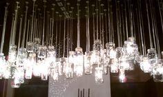 Awesome mason jar chandelier!!!
