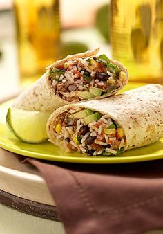 rice and beef burritos...