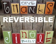 give thanks and jingle bells | REVERSIBLE! Making this!