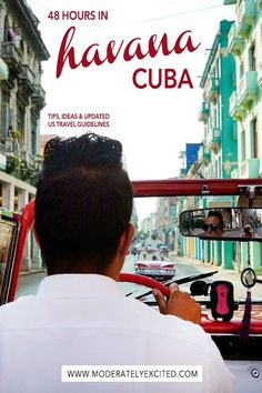 48 hours in Havana, Cuba - everything you need to know including what to see, where to eat, other things to do (including riding in a classic car!) for your trip to Havana. Also included are updated US travel guidelines for traveling to Cuba! Travel Advice, Travel Guides, Travel Tips, Travel Destinations, Travel Info, Travel Goals, Travel Hacks, Cuba Tourism, Cuba Travel
