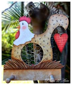 Arte Country, Pintura Country, Chicken Hut, Chicken Crafts, Chickens And Roosters, Country Paintings, Wood Plaques, Painted Furniture, Diy Home Decor