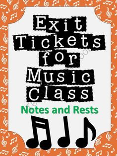 Exit Tickets Formative Assessments for Music Class-NOTES and RESTS Formative assessment in music class has never been easier! Exit tickets or exit passes are a great way to gauge student understanding so that your planning time is more effective and your Singing Lessons, Music Lessons, Piano Lessons, Singing Tips, Learn Singing, Singing Quotes, Student Performance, Middle School Music, Music Classroom