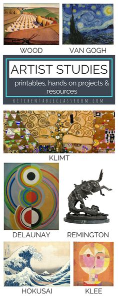 Study seven great artists through books, technology, printable worksheets, in depth hands on art projects, and simple art experiences. Make art an easy part of your day with these resources!