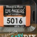 Easy DIY Serving Tray for Runners- What to do with Old Race Bibs