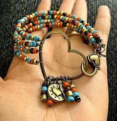 4 strand hippie bohemian stack bracelets - You are in the right place about diy furniture Here we offer you the most beautiful pictures about - Hippie Jewelry, Wire Jewelry, Beaded Jewelry, Jewelry Bracelets, Jewelery, Stack Bracelets, Bohemian Bracelets, Punk Jewelry, Skull Jewelry