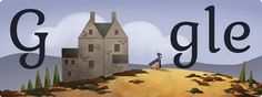 anniversary of the birth of Charlotte Brontë Charlotte Bronte, Google Doodles, Jane Eyre, Children's Day 2017, Google Easter, Google Web Font, Logo Google, Chile, Loch Ness Monster