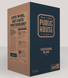 Public House wine has the best branding.