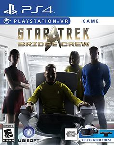 Star Trek: Bridge Crew - PlayStation VR Playable in both VR and non-VR, serve as an officer with hand tracking with full-body avatars and lip-sync. Vr Games, Xbox One Games, News Games, Games Box, Far Cry 4, Star Citizen, Rift Online, Xbox 360, Wii