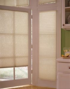 Pleated Shades on patio doors Panel Blinds, Window Blinds, Blinds For Windows, Windows And Doors, Door Shades, Shades Blinds, Zebra Blinds, Cellular Blinds, Sliding Door Blinds
