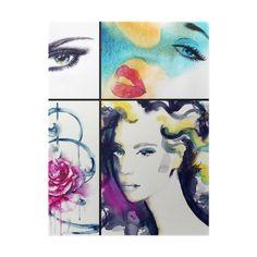 Plakat Portret kobiety .abstract tle akwarela .fashion 365 dni na zwrot ✓ Miliony wzorów ✓ 100% ekologiczny druk ✓ Profesjonalna obsługa i doradztwo ✓ Skonfiguruj online!