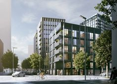 Alison Brooks Architects Designs First London Highrise for Greenwich Peninsula Development | ArchDaily