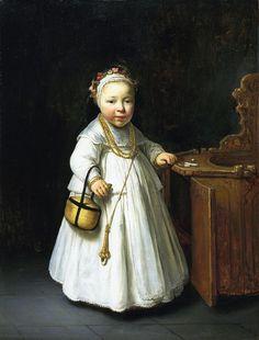 Govert Flinck - Meisje bij een kinderstoel