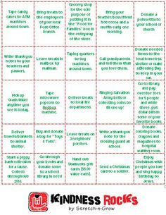 """Advent Calendar FOR OTHERS!! Rock the kindness during the Advent Season!  Stretch-n-Grow students are encouraged all year to spread kindness, but this is a great way to """"give"""" kindness."""
