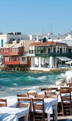 Little-Venice, Mykonos Island (Cyclades), Aegean Sea, Greece