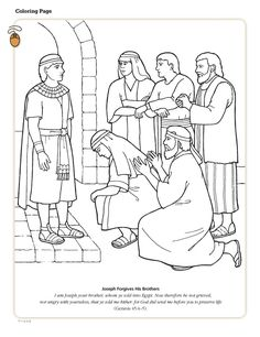 joseph sold into slavery coloring pages google search
