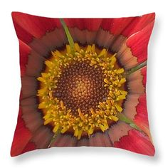 "in color 14"" x 14"" Throw Pillow by Saifon Anaya.  Our throw pillows are made from 100% cotton fabric and add a stylish statement to any room.  Pillows are available in sizes from 14"" x 14"" up to 26"" x 26"".  Each pillow is printed on both sides (same image) and includes a concealed zipper and removable insert (if selected) for easy cleaning."