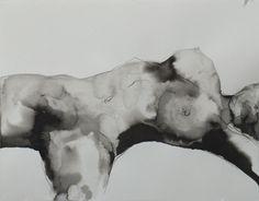 Gregor Kalus - [cm] (ink on paper) Life Drawing, Figure Drawing, Human Painting, Realistic Drawings, Blue Art, Minimalist Art, Erotic Art, Female Art, Art Sketches